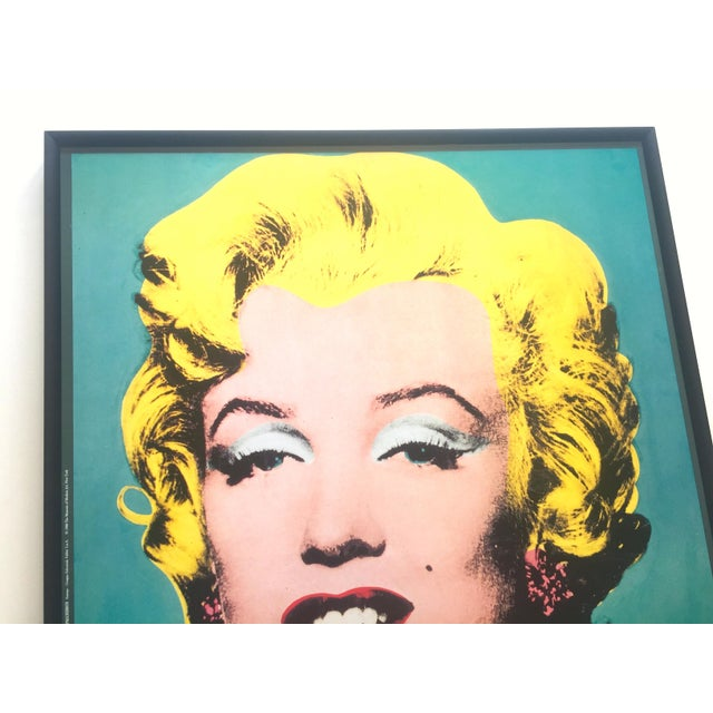 "Andy Warhol Vintage 1988 Lithograph Print Framed Pop Art Poster "" Marilyn "" 1964 For Sale - Image 9 of 13"