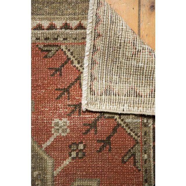 "Vintage Distressed Oushak Rug - 3'2"" X 4'5"" For Sale - Image 9 of 11"