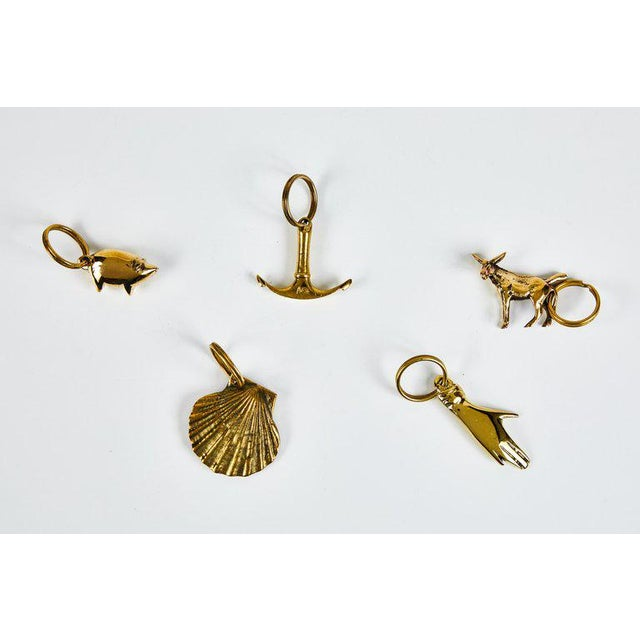 2010s Carl Auböck Model #5608 'Donkey' Brass Figurine Keyring For Sale - Image 5 of 10