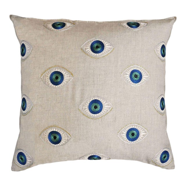 2010s Evil Eye Accent Pillow For Sale - Image 5 of 5