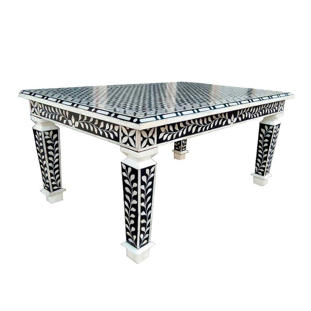 Bone Inlay Hand Crafted Coffee Table For Sale - Image 5 of 5