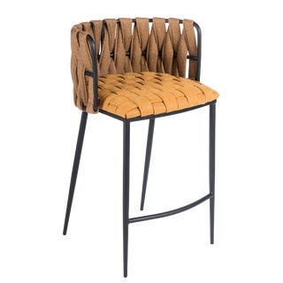 Milano Counter Chair in Champagne For Sale