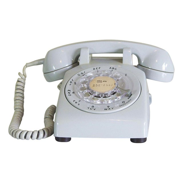 1973 Dove Grey Rotary Desk Phone - Image 1 of 5