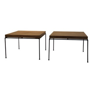 1950s Paul McCobb Directional Modern Line Iron Rod Side Tables - a Pair For Sale