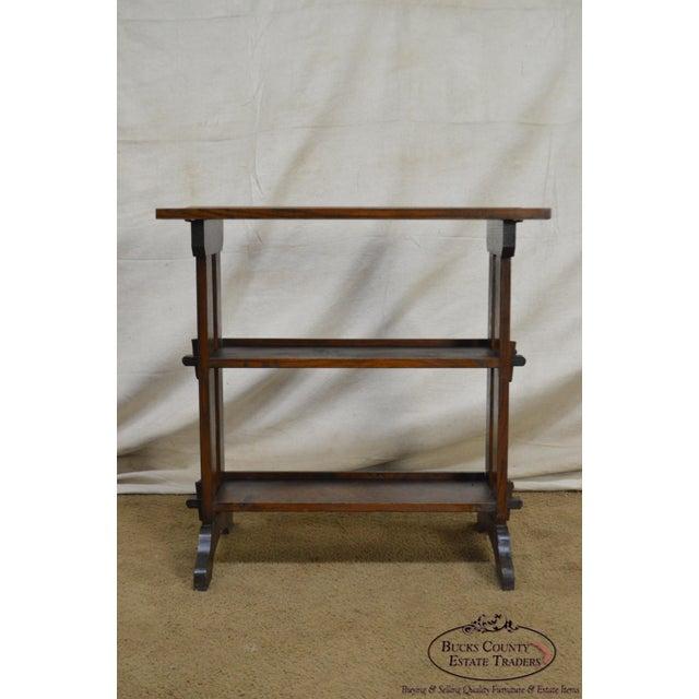 "Roycroft Roycroft ""The Roycrofters"" Arts & Crafts Mission Oak Little Journeys Book Stand For Sale - Image 4 of 13"