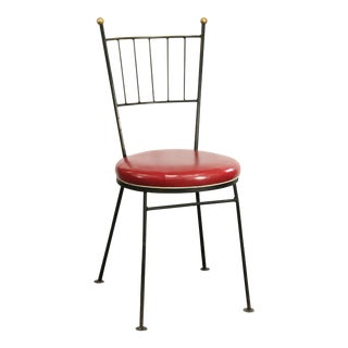 Mid Century Antarenni Paul McCobb Style Wrought Iron Pavilion Chair