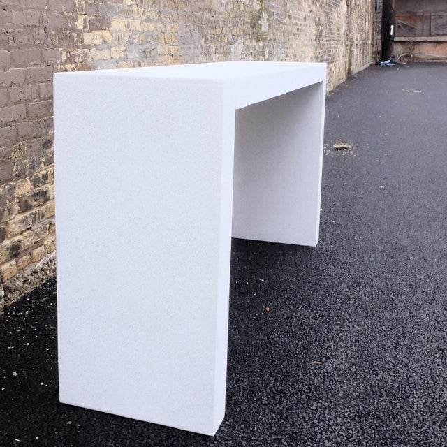 Cast Resin 'Lynne Tell' Console Table, White Stone Finish by Zachary A. Design For Sale - Image 4 of 7