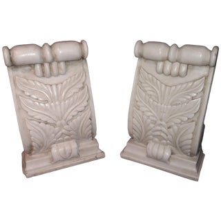Hand Carved Marble Architectural Details From India, 20th Century For Sale