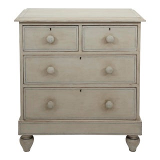 Antique English Country Painted Pine Chest of Drawers For Sale