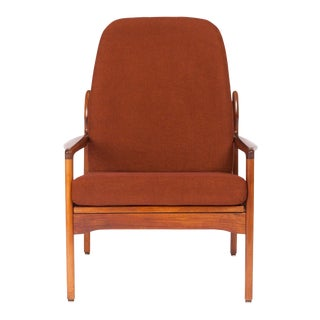Vintage Teak Lounge Chair by Fler Narvik Highback Designed by Fred Lowen For Sale