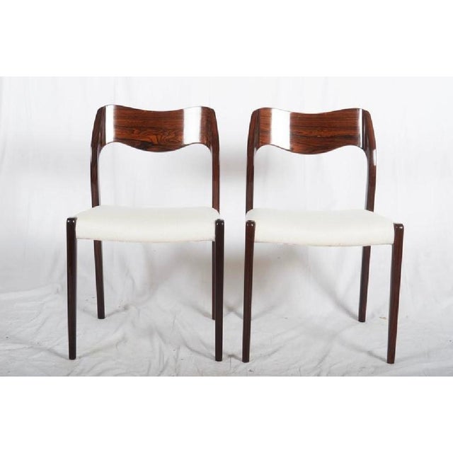 Vintage Model 71 Rosewood Chair by Niels Otto Møller for JL Møllers For Sale - Image 5 of 6