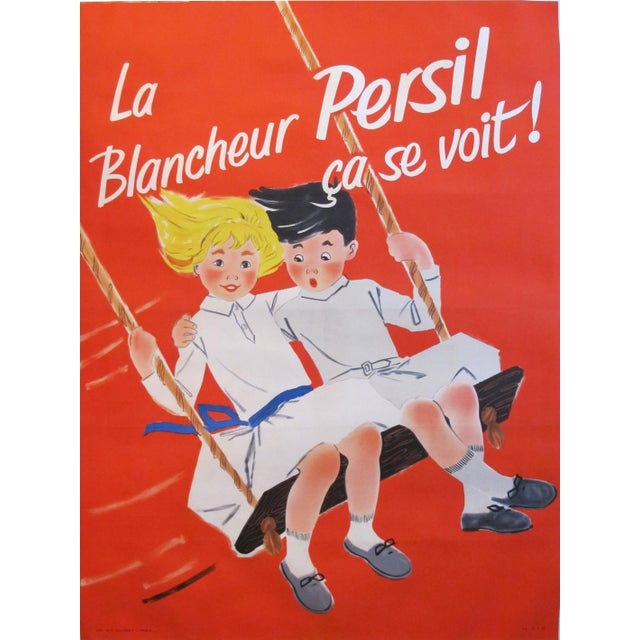 1957 French Soap Ad, Blancheur Persil For Sale - Image 6 of 6