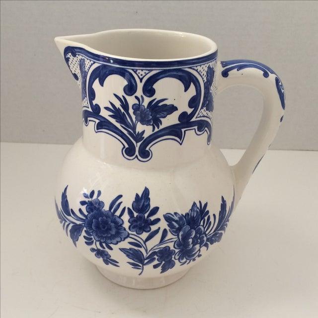 Tiffany & Co Delft Blue & White Pitcher - Image 2 of 6