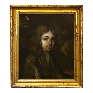 Portrait of Young Man Painting, Italy For Sale