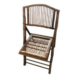 Image of 1950s Vintage Bamboo Folding Chair For Sale