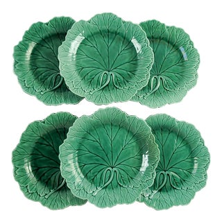 Wedgwood Majolica Leaf Plates - Set of 6