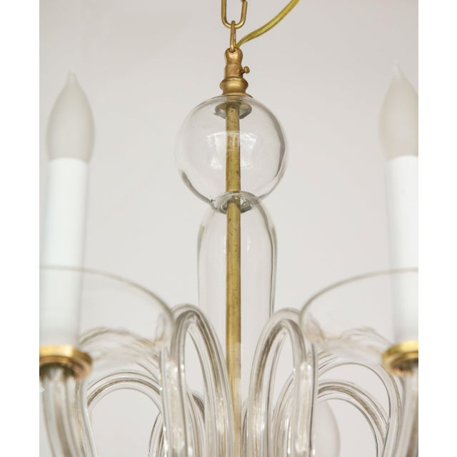 Metal 1960s Murano Glass Eight Arm Chandelier For Sale - Image 7 of 11