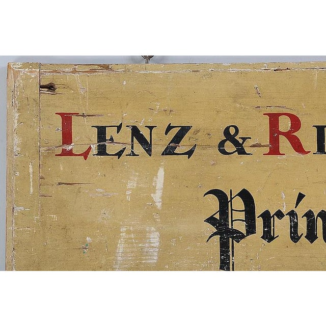 C. 1900Printer's Sign From Long Island NY - Image 2 of 4