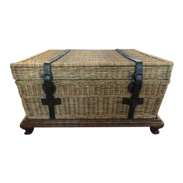 Ralph Lauren Home Marseilles Trunk on Stand For Sale