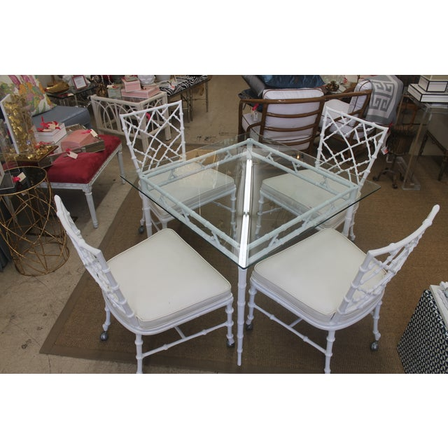 White Iron Patio Set - Image 4 of 4