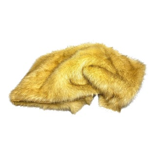 Vintage Contemporary Soft Faux Fur Throw/Blanket For Sale