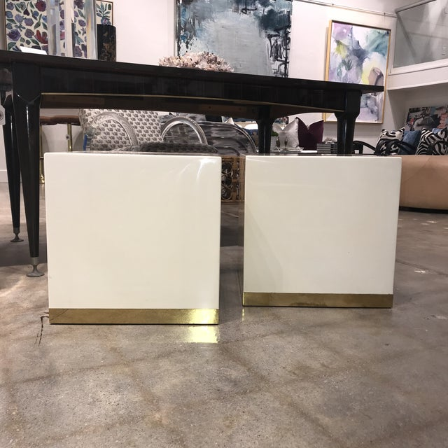 French Lacquered Drink Tables - a Pair For Sale In Dallas - Image 6 of 7
