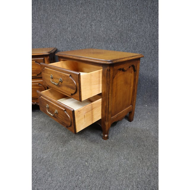 Louis XV Style Fruitwood Nightstands- a Pair For Sale In Philadelphia - Image 6 of 7