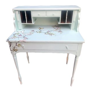 Egg Blue Secretary Desk/Table For Sale