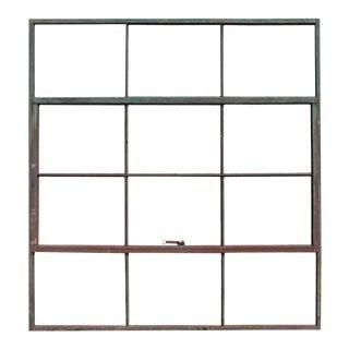 Antique Factory Casement Metal Window For Sale