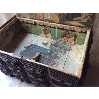 Antique French Tramp Art Box Preview