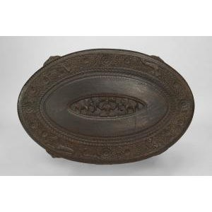 Asian Burmese Style Ebony Low Center Table For Sale - Image 9 of 12