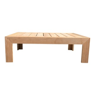 Transitional John Hutton for Sutherland Reeded Rectangular Coffee Table For Sale