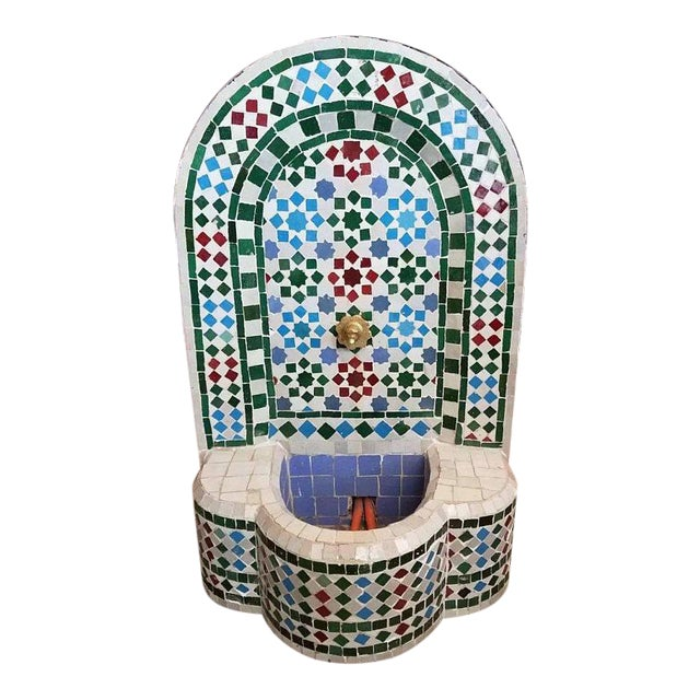 Moroccan Mosaic Fountain For Sale