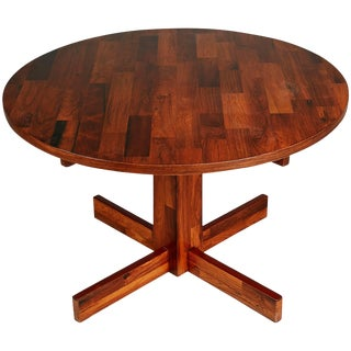 Jorge Zalszupin for L'atelier Jacaranda Rosewood Parquet Dining Table, Brazil For Sale