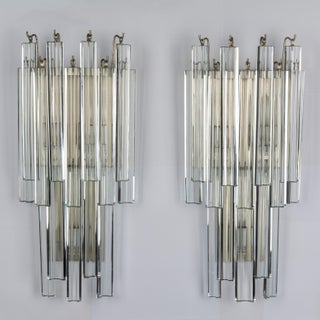 1970s Glass and Silver Venini Sconces - a Pair Preview