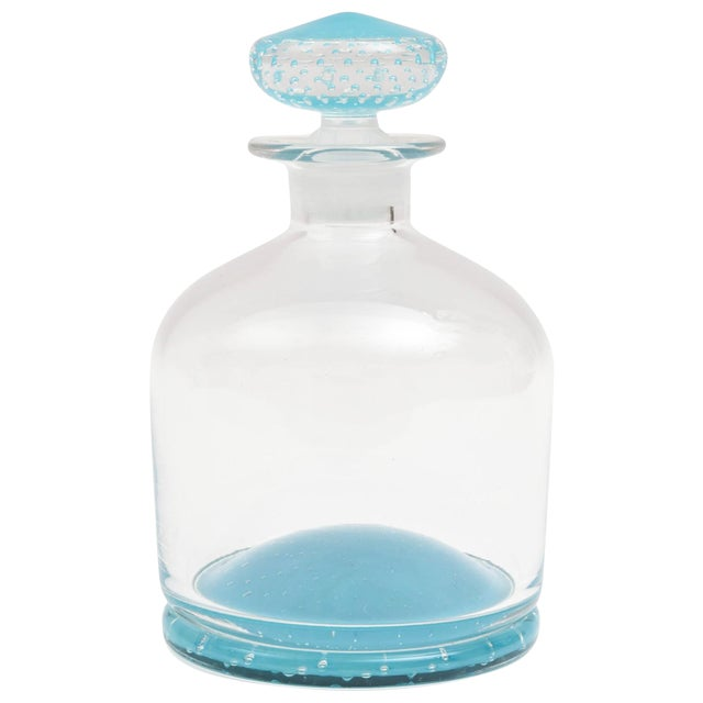 Tiffany Blue Glass Decanter, Classic Shape, Many Colors Available, Custom For Sale