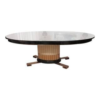 Faux Marble Plateau Dining Table