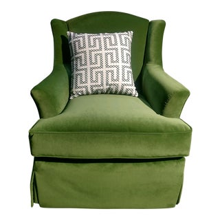 Ivy Green Velvet Club Chair