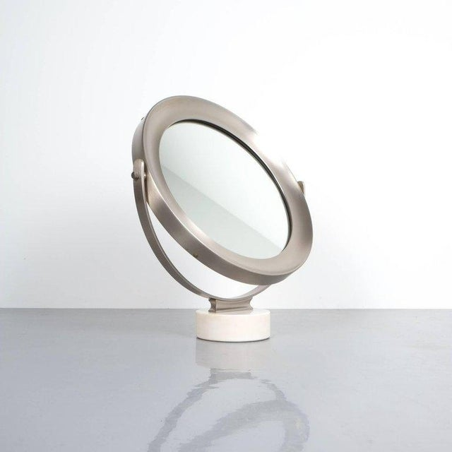 Brass Sergio Mazza Large Swivel Marble Table Mirror, Italy, 1960 For Sale - Image 7 of 7