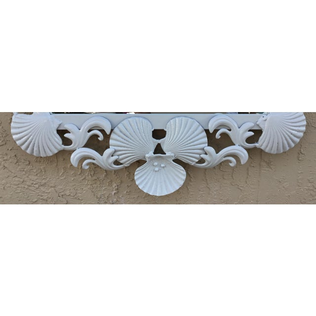 Nautical Seashell Iron Mirrors - a Pair For Sale - Image 3 of 13
