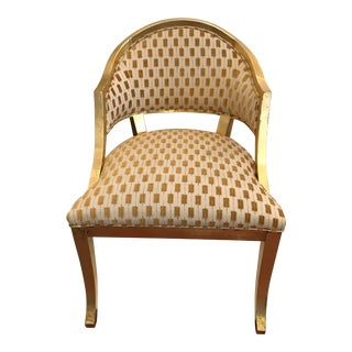 Century Gold Leaf Amelia Chair For Sale