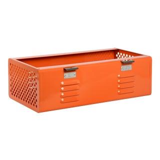 Double Wide Locker Basket in Tangerine, Custom Made to Order For Sale