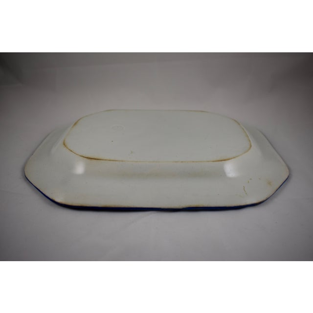 English Leeds Feather or Shell Edge pearlware Platter - Image 8 of 9