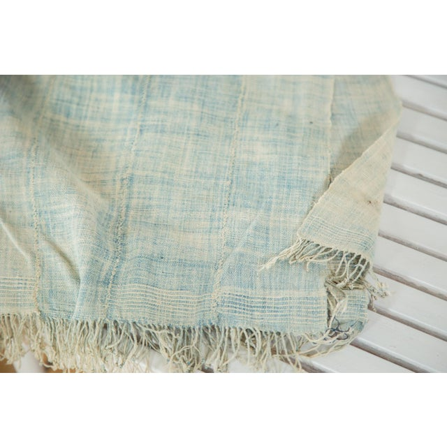 """Vintage African Textile Throw - 3'6"""" X 5'5"""" - Image 3 of 4"""