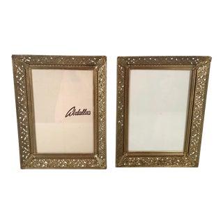 Vintage Brass Pierced Frames - a Pair For Sale