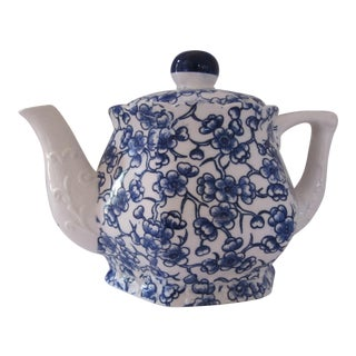 Blue & White Chintz Teapot