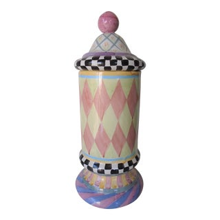 Mackenzie Childs Apothecary Jar For Sale