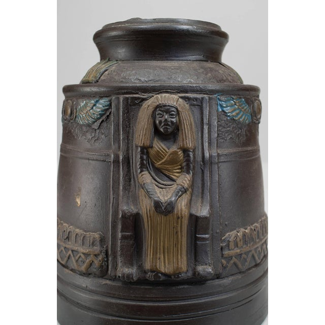 1920s 1920s Japanese Egyptian Revival Tobacco Jar For Sale - Image 5 of 7