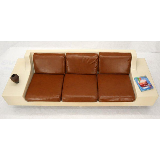 Mid-Century Modern 3-Seat Fiberglass Sofa With End Tables For Sale - Image 12 of 13
