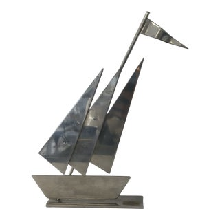 Stainless Steel Ship Sculpture For Sale